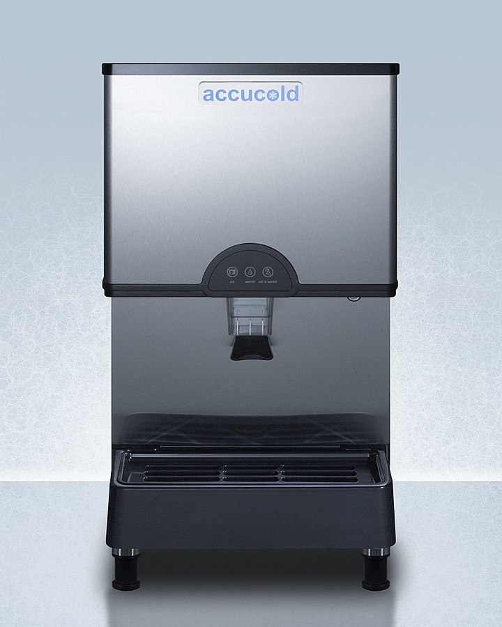 SummitCommercially Listed Countertop Ice And Water Dispenser With 282 Lb. Ice Production Capacity