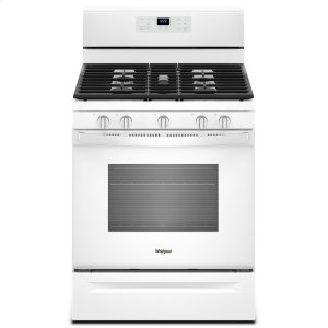 5.0 cu. ft. Freestanding Gas Range with Center Oval Burner - WHITE
