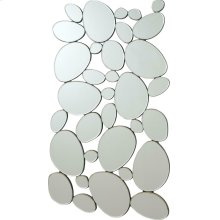 Transitional Stone Shape Collage Mirror