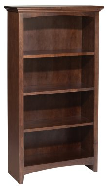 "CAF 48""H x 24""W McKenzie Alder Bookcase in Cafe Finish"