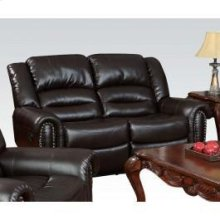 Brown Bonded Loveseat W/motion