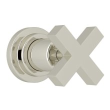 Polished Nickel Lombardia Trim For Volume Control And 4-Port Dedicated Diverter with Cross Handle