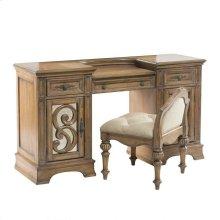 Ilana Warm Oak Vanity Desk