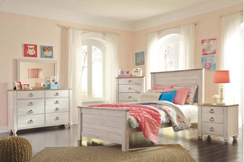 Willowton - White Wash 2 Piece Bedroom Set