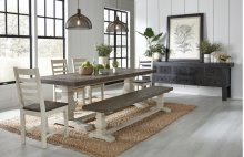 "Caleb Dining Table 94"" Two Tone"
