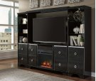 6 piece entertainment center with Faux Fireplace Insert and Audio Soundbar Product Image