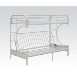White Twin Xl/queen/futon Bunk