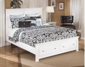 Bostwick Shoals - White 4 Piece Bed Set (Queen)