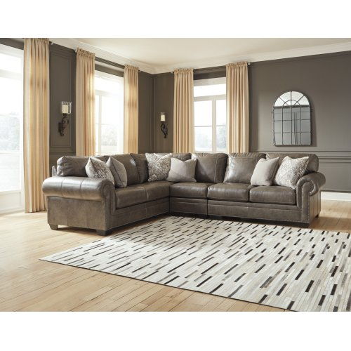 Leather 3 Pc Sectional