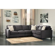 Alenya II Sectional Charcoal Right