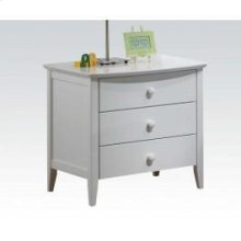 Wh 3-drawer Nightstand