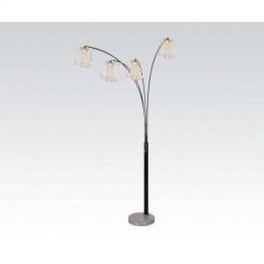 Black Floor Lamp W/marble Base
