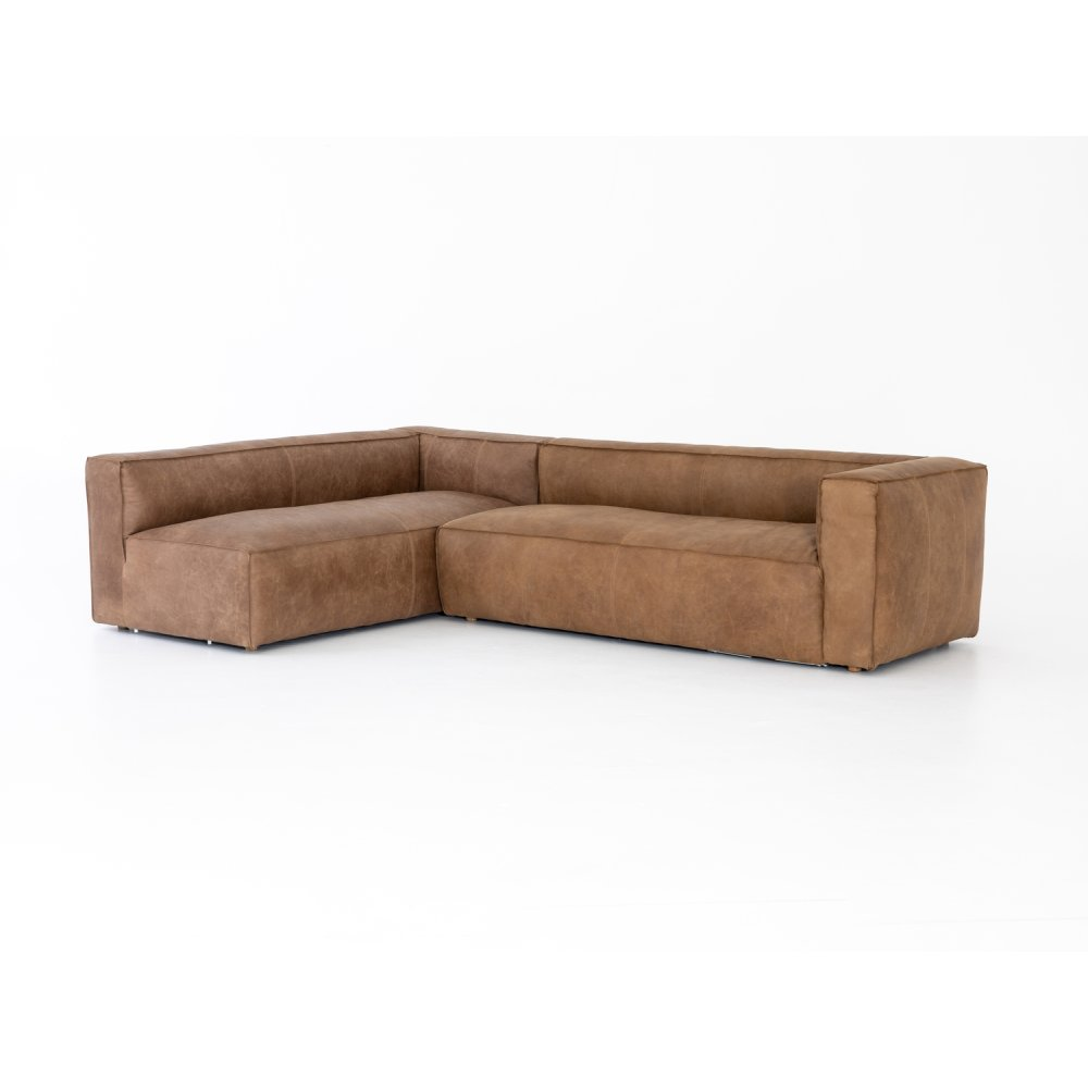 2 Piece - Right Arm Facing Configuration Natural Washed Cover Nolita Sectional