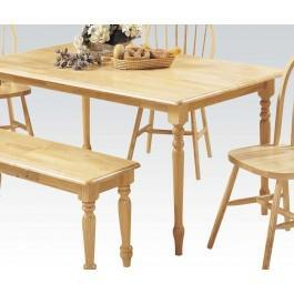 "Natural 36x60"" Solid Top Table"