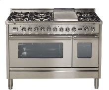 """48"""" - 7 Burner, w/Griddle in Stainless Steel"""