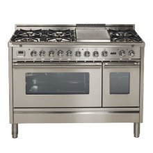 "48"" - 7 Burner, w/Griddle in Stainless Steel"