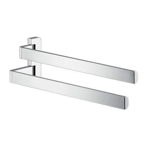 Chrome Towel holder twin-handle