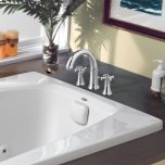 American StandardPortsmouth Deck-Mounted Bathtub Faucet with Cross Handles - Polished Chrome