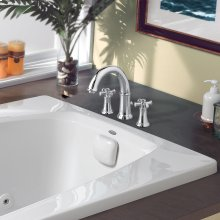 Portsmouth Deck-Mounted Bathtub Faucet with Cross Handles - Polished Chrome