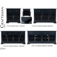 Craftsman Accent Chest - Navy