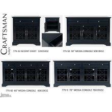 "Craftsman 50"" Media Unit - Navy"