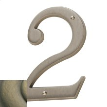 Satin Brass and Black House Number - 2