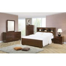 Jessica Dark Cappuccino King Five-piece Bedroom Set With Storage Bed
