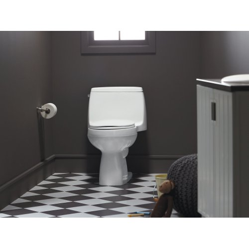 Ice Grey Comfort Height One-piece Compact Elongated 1.28 Gpf Toilet With Aquapiston Flushing Technology and Left-hand Trip Lever