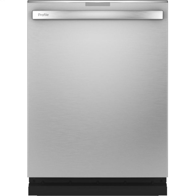 GE Profile Fingerprint Resistant Top Control with Stainless Steel Interior Dishwasher with Sanitize Cycle & Twin Turbo Dry Boost