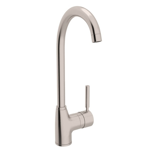 Satin Nickel Lux Side Lever Bar Faucet with Lux Metal Lever