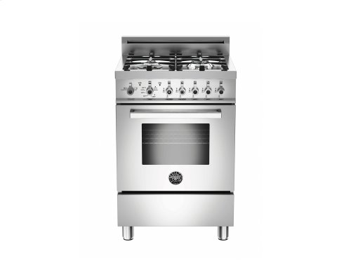 24 inch All Gas Range, 4 Burners Stainless