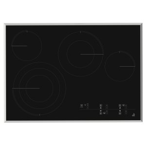 "Jenn-AirLustre Stainless 30"" Electric Radiant Cooktop with Glass-Touch Electronic Controls Stainless Steel"