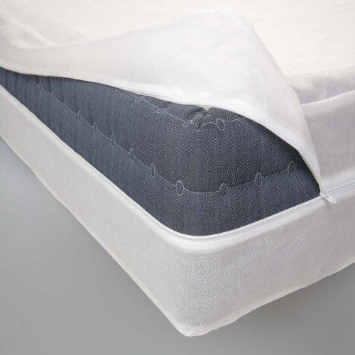 Sleep Calm Zippered Nonwoven Box Spring Encasement with Bed Bug Defense, Queen
