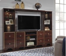 Lenmara - Reddish Brown 4 Piece Entertainment Set