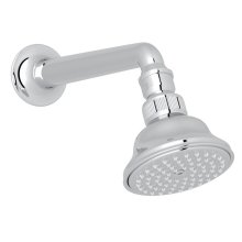 "Polished Chrome 3 1/16"" Perletto Anti-Cal Showerhead With 7 1/8"" Shower Arm"