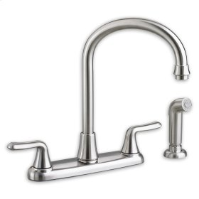 Colony Soft 2-Handle High-Arc Kitchen Faucet with Separate Side Spray  American Standard - Polished Chrome