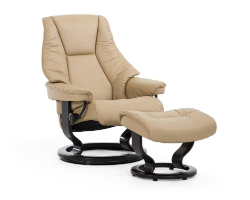 Stressless Live Medium Classic Base Chair and Ottoman