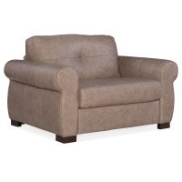 Living Room Afton Arm Chair and Half w/ Sleeper w/ Memory Foam Matt Product Image