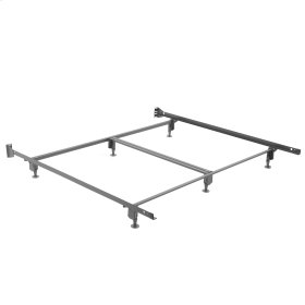 Inst-A-Matic Hospitality H777G Bed Frame with Fixed Headboard Brackets and (6) 2-Piece Glide Legs, King