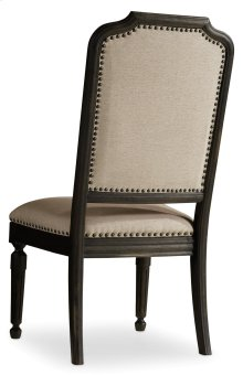 Dining Room Corsica Dark Upholstered Side Chair