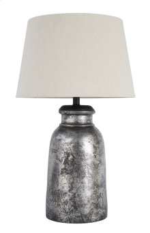 Terracotta Table Lamp (1/CN) Table Lamp - Silver Finish Collection Ashley at Aztec Distribution Center Houston Texas