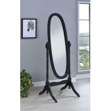 Transitional Black Cheval Mirror