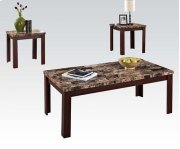 3PC PK C/E TABLES W/BR FAUX M Product Image