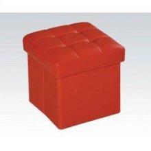 Red Ottoman W/storage