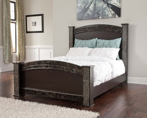 Vachel - Dark Brown 4 Piece Bed Set (Queen)