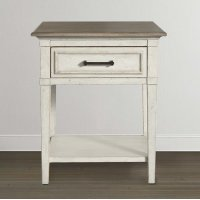 Bella Wood Top Bedside Table Product Image