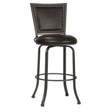 Belle Grove Commercial Grade Swivel Bar Stool - Charcoal