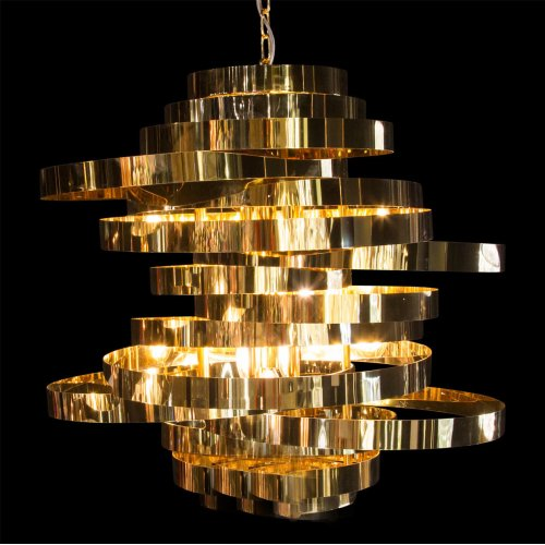 living Spaces Revolve Around Light, A Quality This Modern Centerpiece Embodies. Presented With 8 Lights, Hemispheres Features Offset Stainless Steel Metal Loops and A Captivating Art Deco DESIGN.