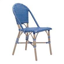 Paris Dining Chair Navy Blue & White