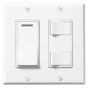 Broan3-Function Control, White, 20 amps, 120V